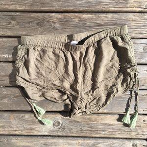 💥5/$25 aerie Moss Tassel Side Cinch Shorts